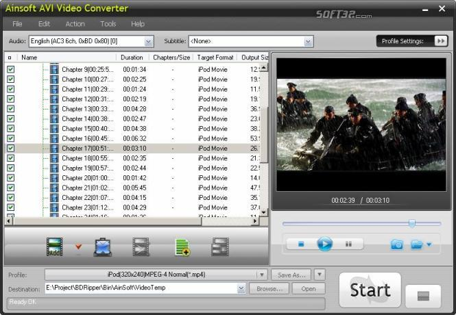 Ainsoft AVI Video Converter Screenshot 2