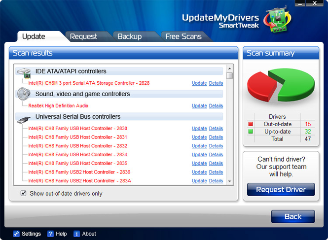 UpdateMyDrivers Screenshot