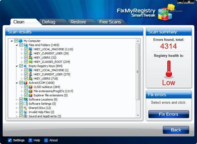 FixMyRegistry Screenshot 2