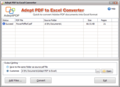 Adept PDF to Excel Converter 1