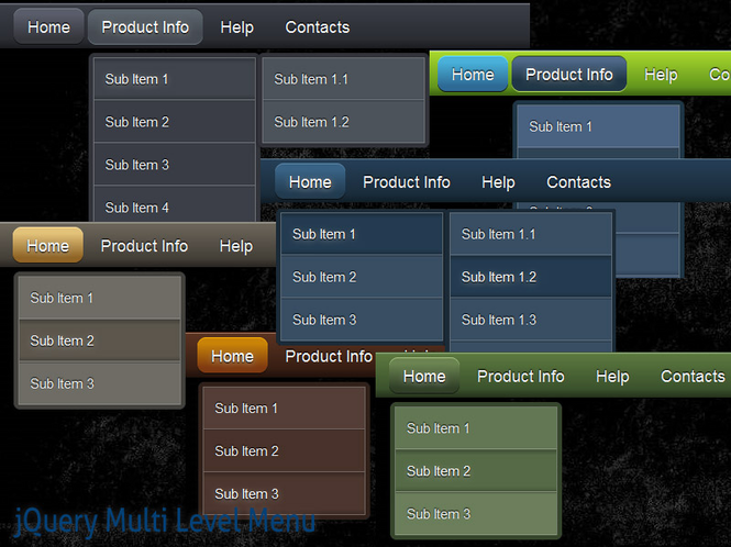 jQuery Multi Level Menu Style 11 Screenshot 1