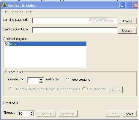 RedirectsCreator Screenshot 2