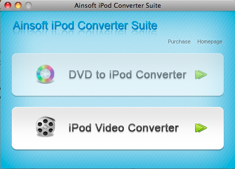 Ainsoft iPod Converter Suite for Mac Screenshot