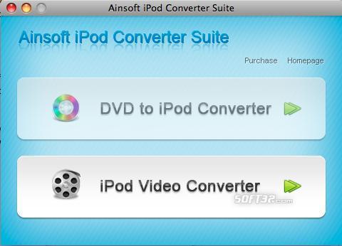 Ainsoft iPod Converter Suite for Mac Screenshot 2