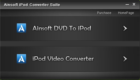 Ainsoft iPod Converter Suite Screenshot