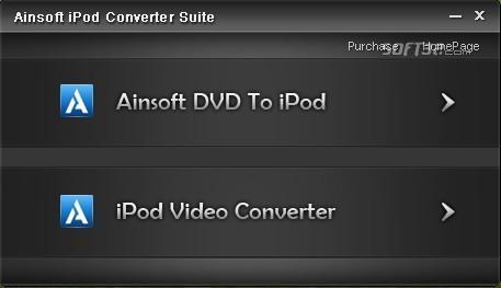 Ainsoft iPod Converter Suite Screenshot 2