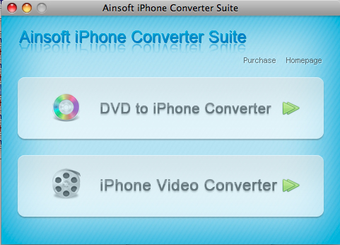 Ainsoft iPhone Converter Suite for Mac Screenshot 3