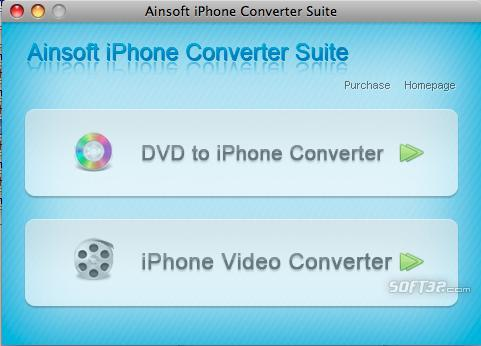 Ainsoft iPhone Converter Suite for Mac Screenshot 2