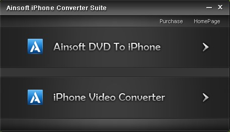 Ainsoft iPhone Converter Suite Screenshot