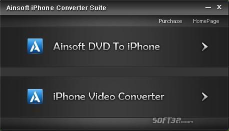Ainsoft iPhone Converter Suite Screenshot 2