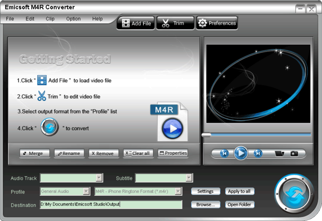 Emicsoft M4R Converter Screenshot 1