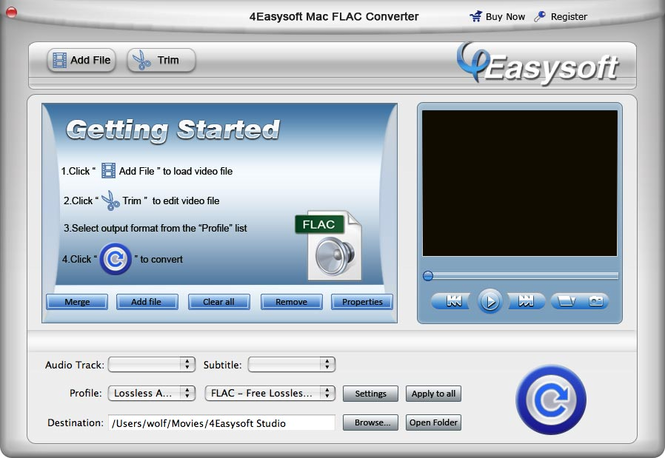 4Easysoft Mac FLAC Converter Screenshot
