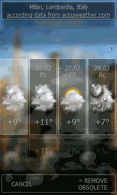 Touch Weather Free Screenshot 1