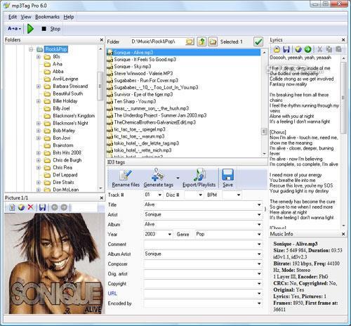 mp3Tag Pro Screenshot 2