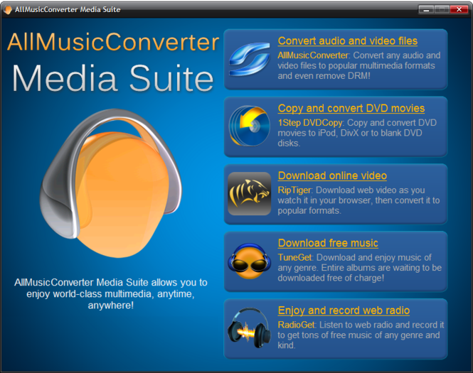 AllMusicConverter Media Suite Screenshot 1