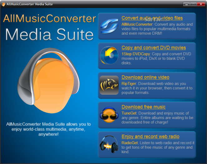 AllMusicConverter Media Suite Screenshot 2