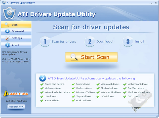 ATI Drivers Update Utility Screenshot