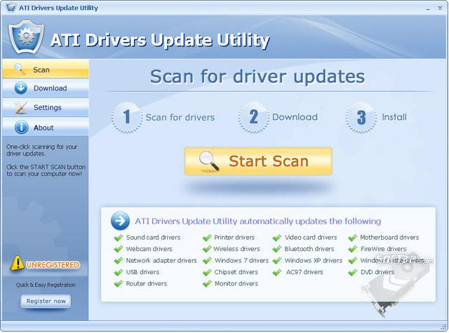 ATI Drivers Update Utility Screenshot 2