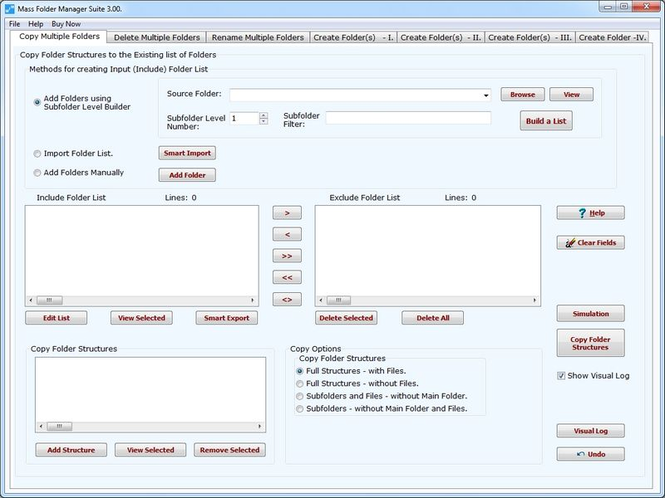 Mass Folder Manager Suite Screenshot