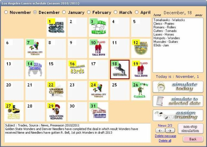 True Basketball Manager 2010 Screenshot 2