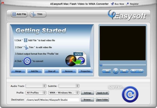 4Easysoft Mac Flash Video toWMAConverter Screenshot 3