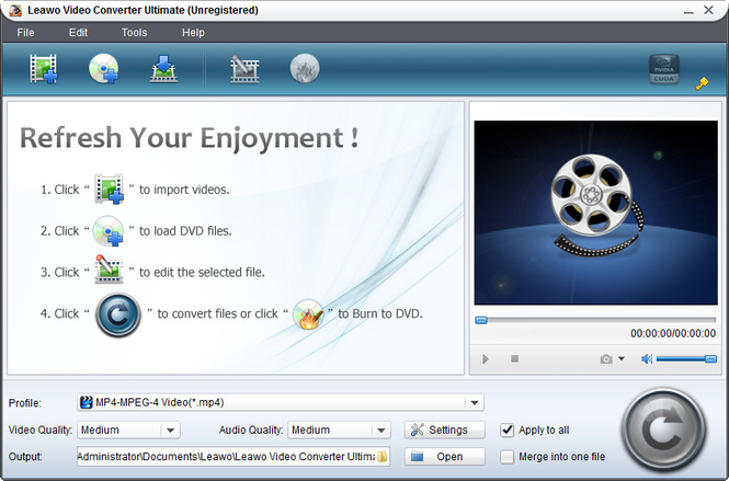 Leawo Total Media Converter Suite Screenshot