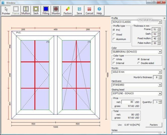 PVC Windows Designer Screenshot 3