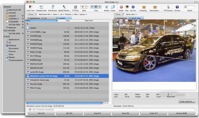 Disk Order Screenshot 2