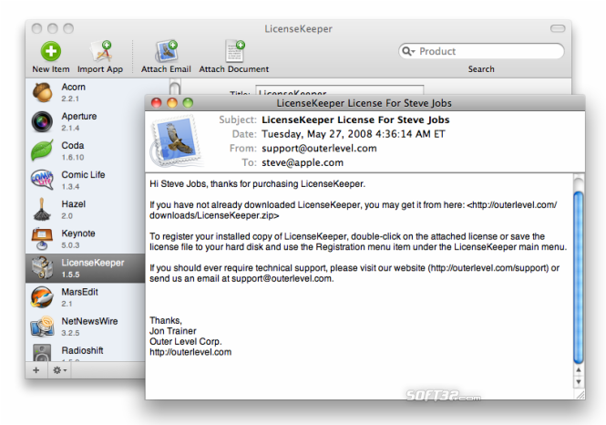 LicenseKeeper Screenshot 2