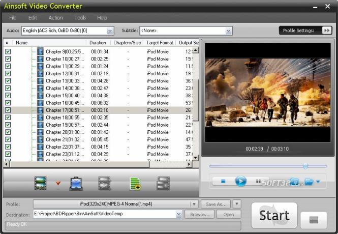 Ainsoft Video Converter Screenshot 2
