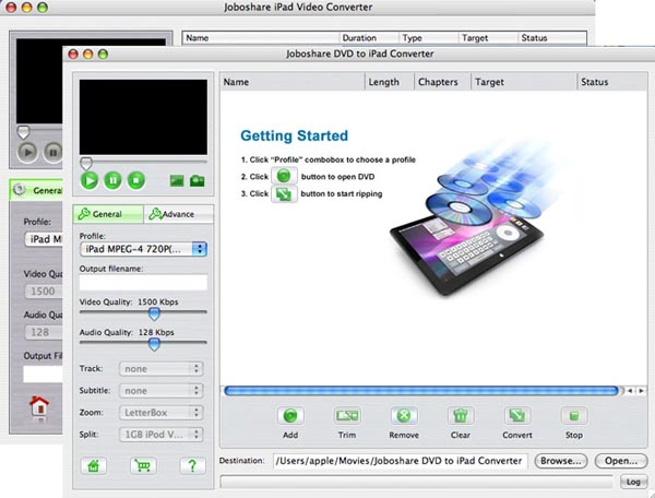 Joboshare DVD to iPad Bundle for Mac Screenshot