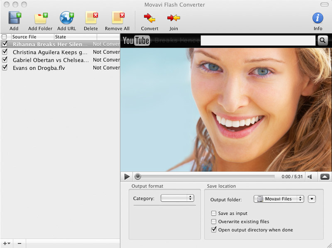Movavi Flash Converter for Mac Screenshot