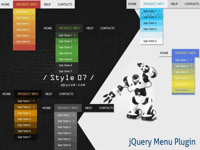 jQuery Menu Plugin Style 07 Screenshot 3