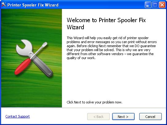 Printer Spooler Fix Wizard Screenshot
