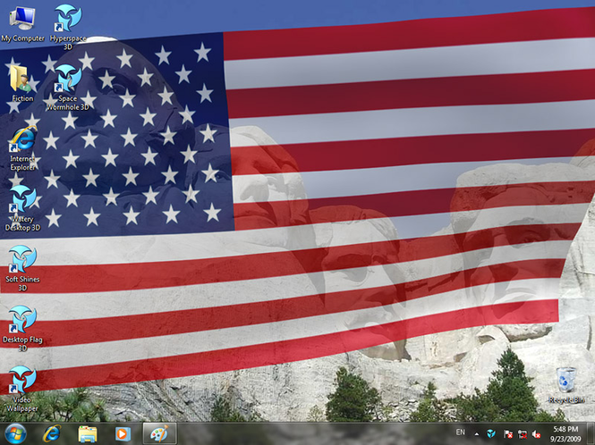Animated Wallpaper: Desktop Flag 3D Screenshot