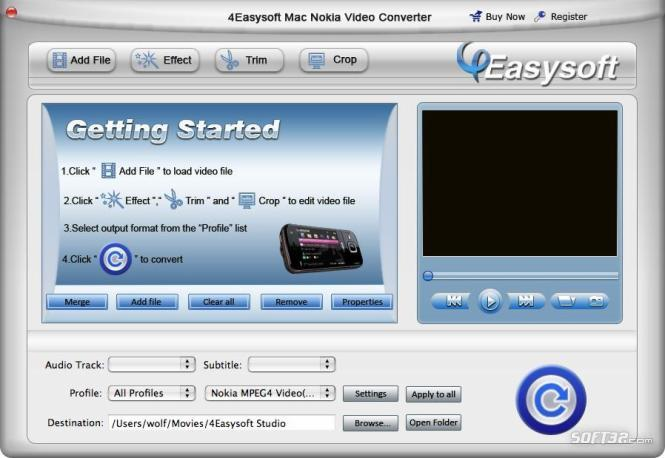 4Easysoft Mac Nokia Video Converter Screenshot 3