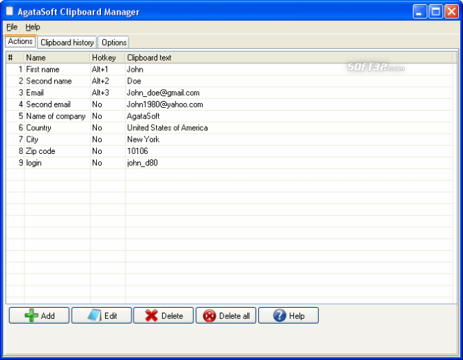 AgataSoft Clipboard Manager Screenshot 3