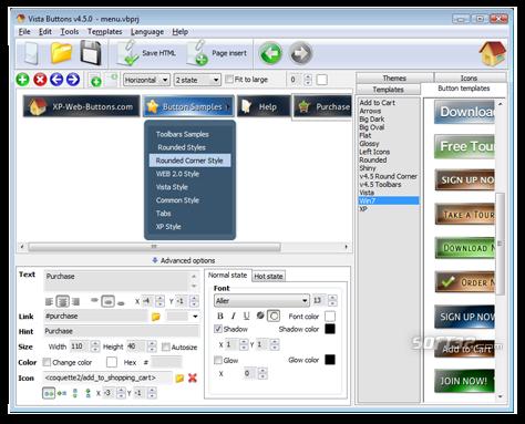 Web Menues und Schaltflaechen Screenshot 3