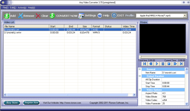 Any Video Converter Screenshot
