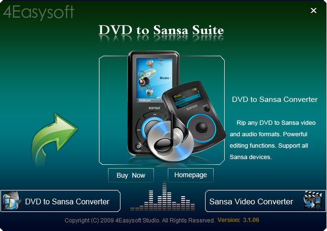 4Easysoft DVD to Sansa Suite Screenshot