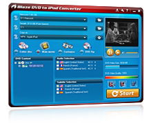 Blaze DVD to iPod Converter Screenshot 1