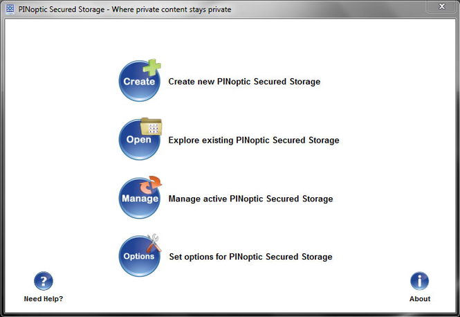 PINoptic Secure Storage Screenshot