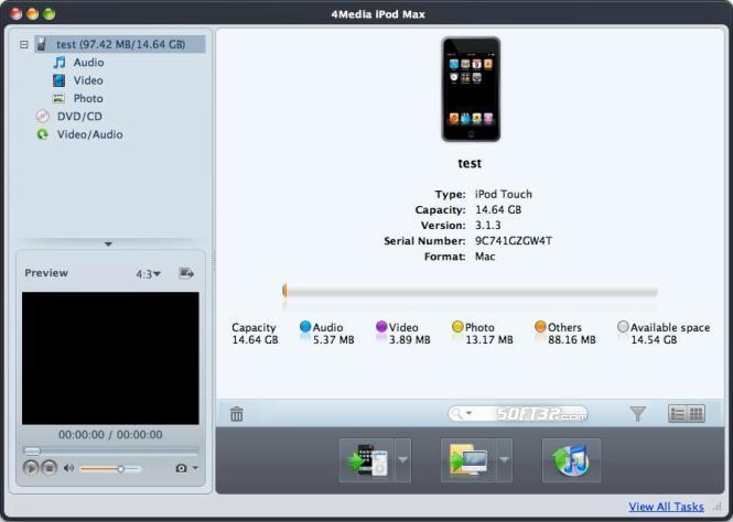 4Media iPod Max for Mac Screenshot 3