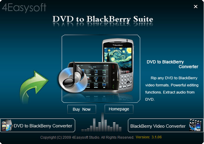 4Easysoft DVD to BlackBerry Suite Screenshot