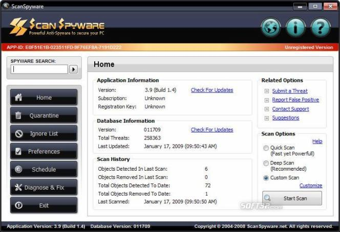 Scan Spyware Screenshot 2