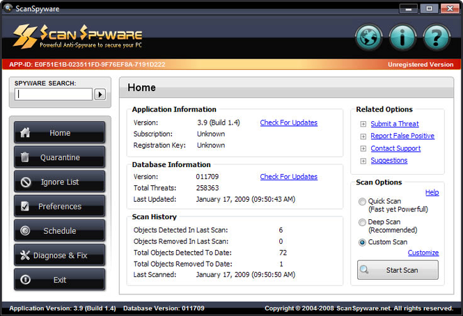 Scan Spyware Screenshot