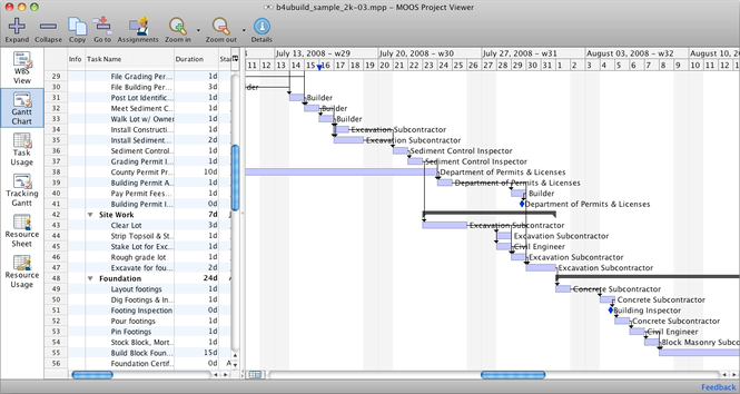 MS Project Viewer for Mac Screenshot