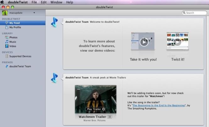 doubleTwist Screenshot