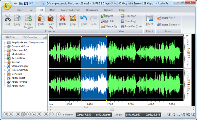 Audio Record Edit Toolbox 2010 Screenshot