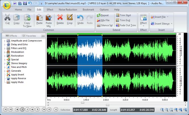 Audio Record Edit Toolbox 2010 Screenshot